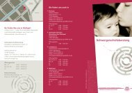 Flyer Schwangerschaftsberatung - Sozialdienst katholischer Frauen