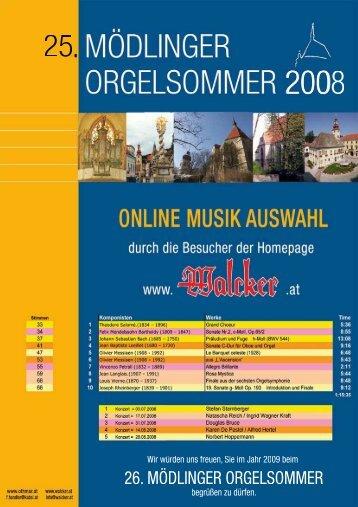Begleitheft - Orgelbau Walcker-Mayer