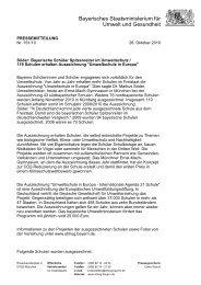 Pressemitteilung des KM - Umweltschule in Europa