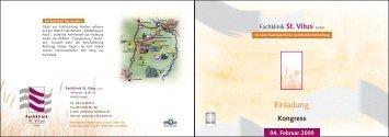 Kongress 04. Februar 2009 - Fachklinik St. Vitus GmbH - Visbek