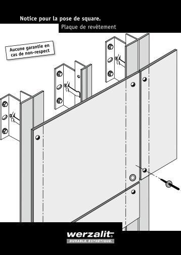 Plaque de revêtement Notice pour la pose de square. - Werzalit