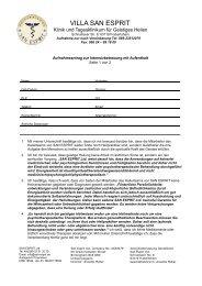 Antragsformular Download - VILLA SAN ESPRIT