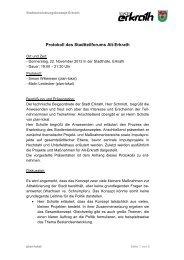 Protokoll des Stadtteilforums Alt-Erkrath | 22 ... - Zukunft Erkrath