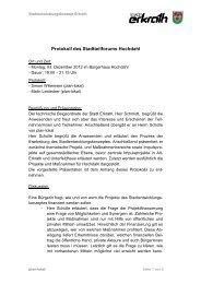 Protokoll des Stadtteilforums Hochdahl | 03 ... - Zukunft Erkrath