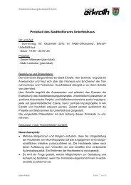Protokoll des Stadtteilforums Unterfeldhaus | 05 ... - Zukunft Erkrath