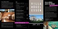 ausstellungsflyer - Villa Hügel