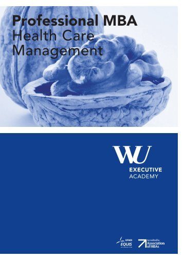 Broschüre: Professional MBA Health Care Management - WiWi-Online
