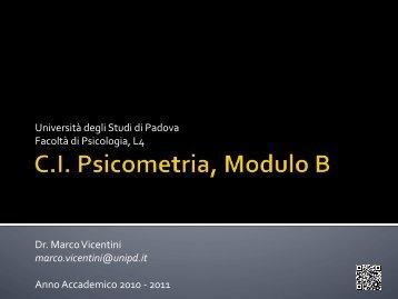 Introduzione e programma - Marco Vicentini