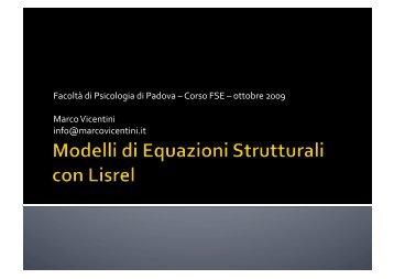 Introduzione a Lisrel: richiami teorici [Pdf] - Marco Vicentini