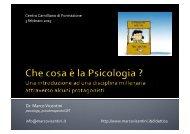 Che cosa è la psicologia? - Marco Vicentini