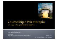 Counseling e Psicoterapia - Marco Vicentini