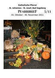 PFARRBRIEF 5/11 - Katholische Pfarrei St. Johannes - St. Josef