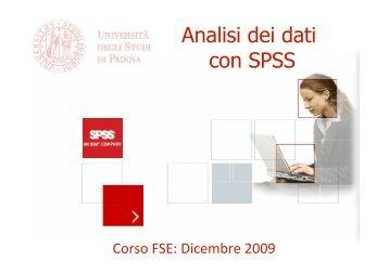 Introduzione a SPSS - Marco Vicentini