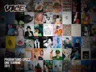 produktions-specs und termine 2011 - Vice