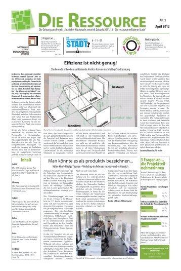 Die Ressource - Die Zeitung zum Projekt - Technische Universität ...