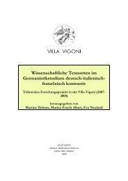 Wissenschaftliche Textsorten im Germanistikstudium - Collana Villa ...