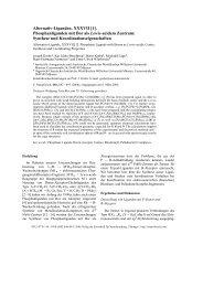 Alternativ-Liganden, XXXVII [1]. - Verlag der Zeitschrift für ...