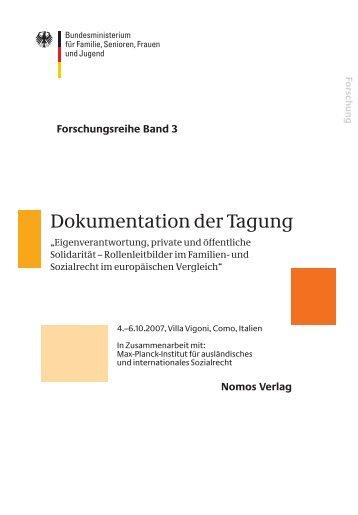 Dokumentation der tagung - Bundesministerium für Familie ...