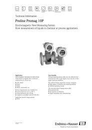 Proline Promag 53 manual ENG pdf - Gemini BV