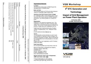 VGB Workshop - VGB PowerTech