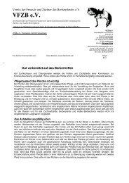 VFZB eV Verein der Freunde und Züchter des Berberpferdes