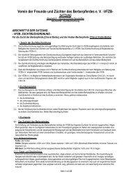 Zuchtbuchordnung des VFZB e.V. - VFZB eV Verein der Freunde ...