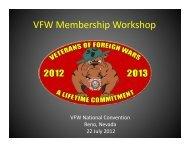 VFW Membership Workshop