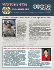 July/August 2012 Newsletter - VFW Post 1263