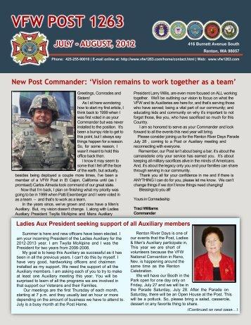 July/August 2012 Newsletter - VFW Post 1263