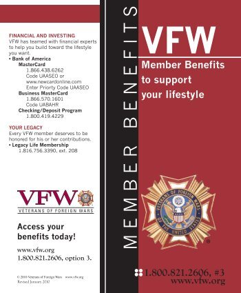 Member Benefits - VFW Post 4337 Inverness FL