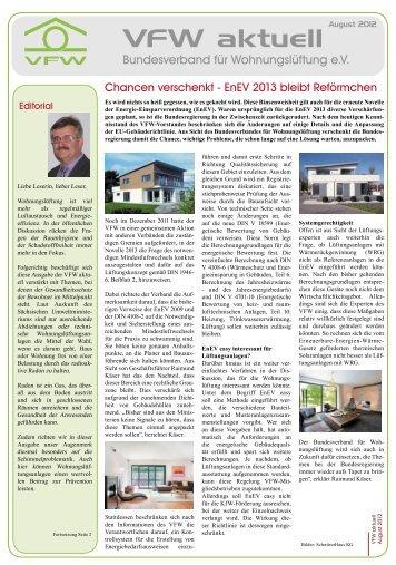 VfW aktuell: Bundesverband für Wohnungslüftung e.V. ... - Service