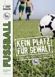 MAGAZIN - Schleswig-Holsteinischer Fussballverband eV