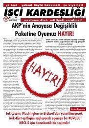 AKP'nin Anayasa Değişiklik Paketine Oyumuz HAYIR!
