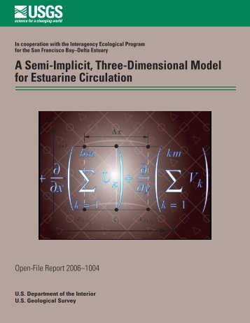 A Semi-Implicit, Three-Dimensional Model for Estuarine ... - USGS
