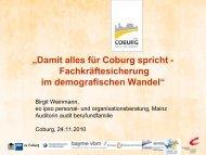 Vortrag von Frau Birgit Weinmann