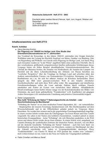 von Heft 277/3 - Oldenbourg Verlag