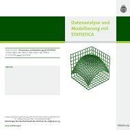 Datenanalyse und Modellierung mit STATISTICA - Oldenbourg Verlag