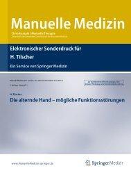 Elektronischer Sonderdruck für Die alternde Hand ... - Prof. Dr. Tilscher