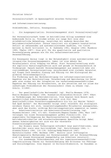 Christian Schol - Rainer Hampp Verlag