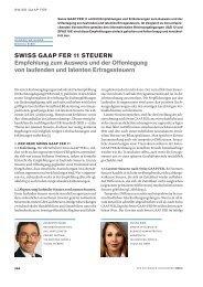 SWISS GAAP FER 11 STEUERN Empfehlung zum Ausweis und der ...