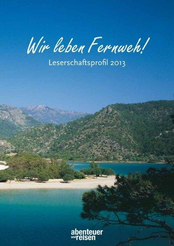 abenteuer und reisen – Leserschaftprofil 2013