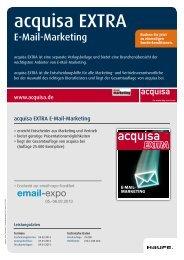 acquisa EXTRA: E-Mail-Marketing 2013 - Mediadaten Haufe Lexware