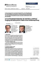 stichprobenerhebung im kontrollumfeld - Home - Ernst & Young ...