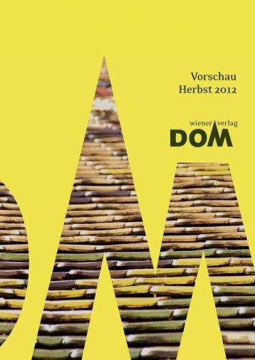 Vorschau Herbst 2012 - Wiener Dom-Verlag