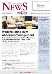 Corporate News 2-2007 - Groupe Mutuel