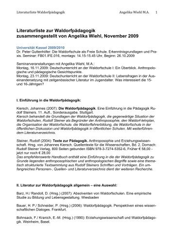 PDF Download - Lehrerseminar für Waldorfpädagogik Kassel