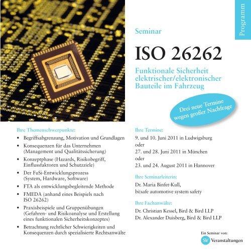 ISO 26262 - Ihr kompetenter Veranstalter für Kongresse, Tagungen ...