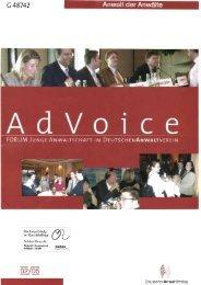 AdVoice 02/2005 - Forum Junge Anwaltschaft