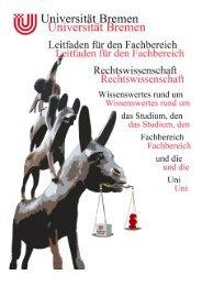 Inhalt - Fachbereich Rechtswissenschaft der Universität Bremen