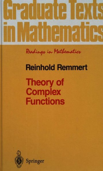 Theory of Complex Functions - index - Free